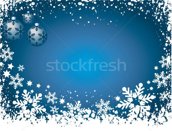 Grunge hópelyhek hó tél ünneplés hópehely Stock fotó © kjpargeter