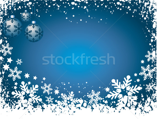 Grunge fiocchi di neve neve inverno celebrazione fiocco di neve Foto d'archivio © kjpargeter