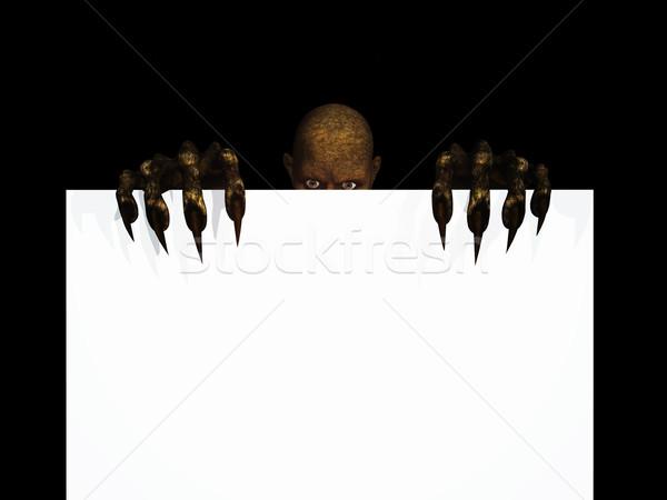 3D zombie cijfer 3d render Stockfoto © kjpargeter
