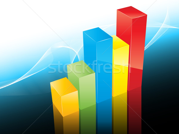3D bar graph Stock photo © kjpargeter