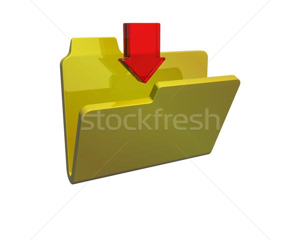 Simgesi indir 3d render ikon indirmek 3D Stok fotoğraf © kjpargeter