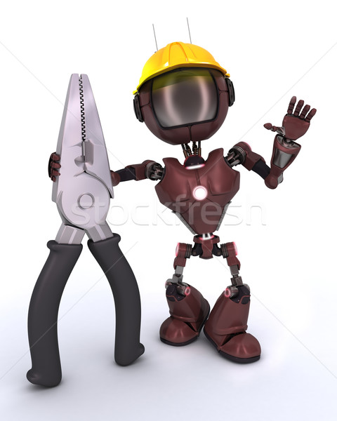 android builder with pliers Stock photo © kjpargeter
