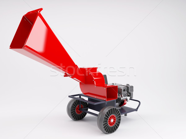 Tuin shredder 3d render werk machine tak Stockfoto © kjpargeter