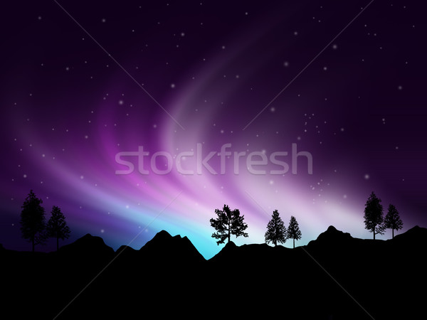 Northern lights Stock photo © kjpargeter