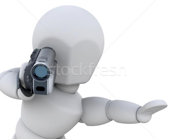 3d ember férfi otthon háttér 3D izolált Stock fotó © kjpargeter