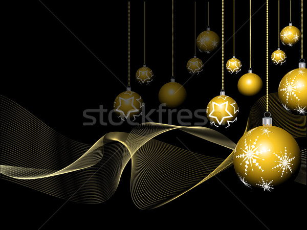 Сток-фото: Рождества · безделушка · аннотация · зима · звездой