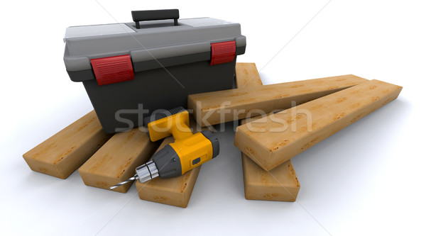 power drill Stock photo © kjpargeter