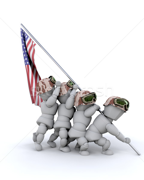 us marine corps war memorial Stock photo © kjpargeter
