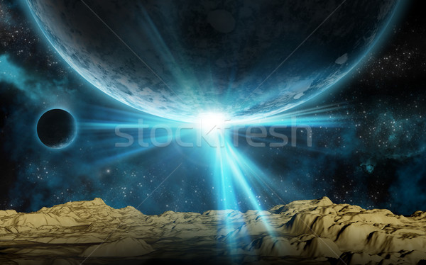 3D space background Stock photo © kjpargeter
