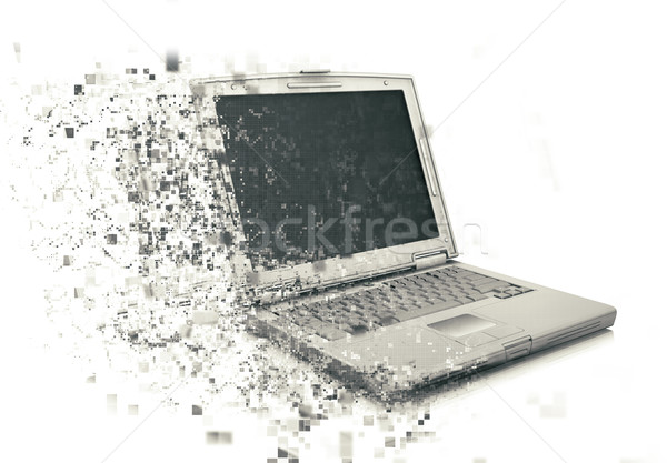 3D laptop with pixelated effect Stock photo © kjpargeter