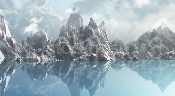 Ice mountain range Stock photo © kjpargeter