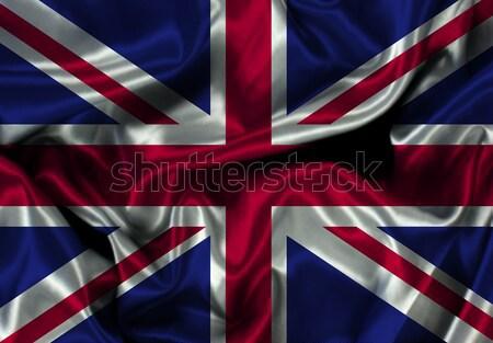британский флаг флаг иллюстрация текстуры шелковые Англии Сток-фото © kjpargeter