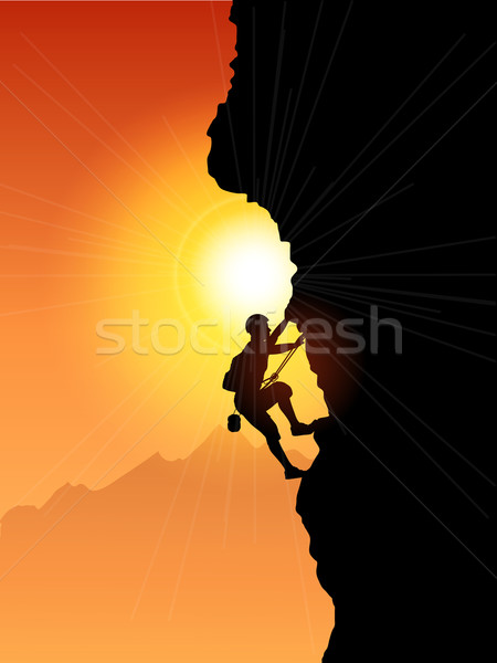 Rock Climber Stock photo © kjpargeter