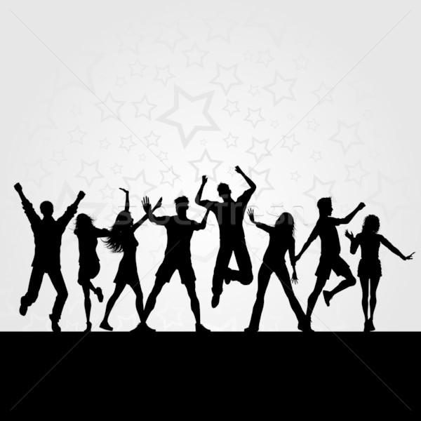 Buli háttér emberek tánc lány férfi Stock fotó © kjpargeter