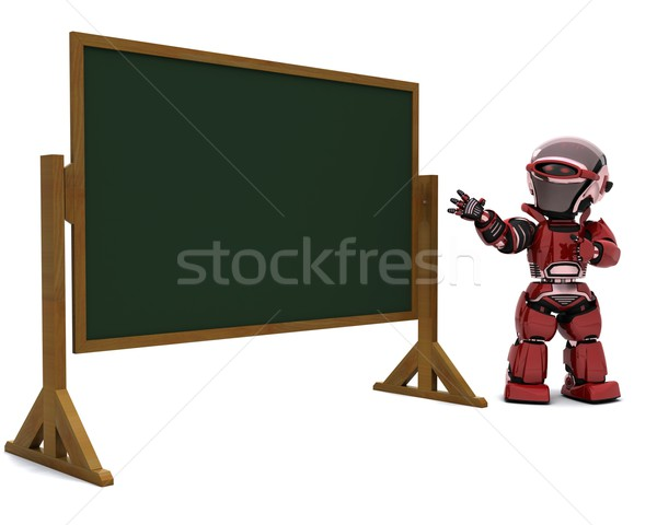 robot teacher in classroom Stock photo © kjpargeter