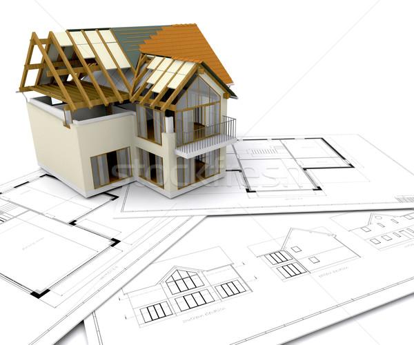 Foto d'archivio: Casa · costruzione · progetti · home · architettura · costruire