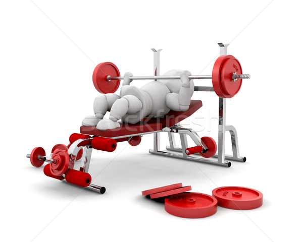 Weight lifting Stock photo © kjpargeter