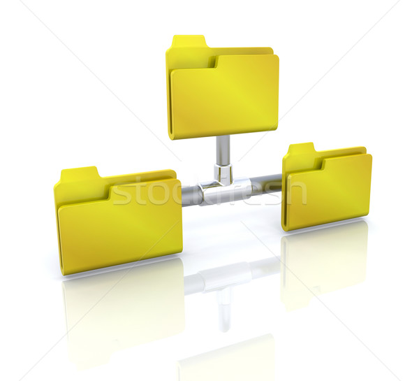 Computer icon for network folder Stock photo © kjpargeter
