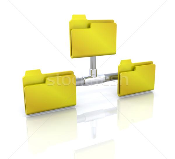 コンピュータアイコン ネットワーク フォルダ 3D ビジネス デザイン ストックフォト © kjpargeter