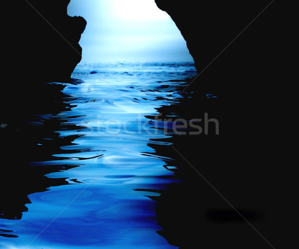 Watery cave Stock photo © kjpargeter