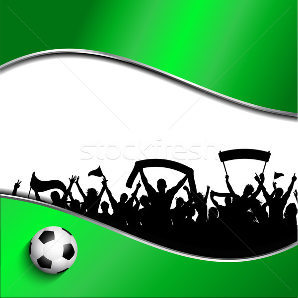 Football or soccer crowd background Stock photo © kjpargeter