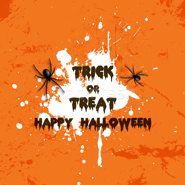 Grunge Halloween spider background  Stock photo © kjpargeter