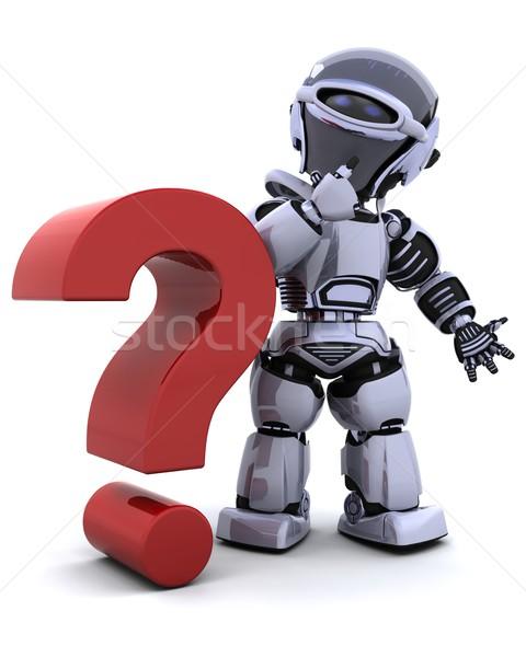 Stok fotoğraf: Robot · simge · 3d · render · iş · iletişim · gelecek