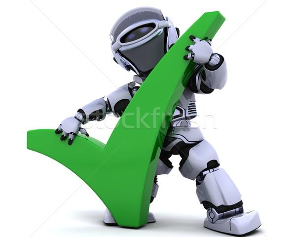 Robot simbolo rendering 3d futuro stile di vita moderno Foto d'archivio © kjpargeter
