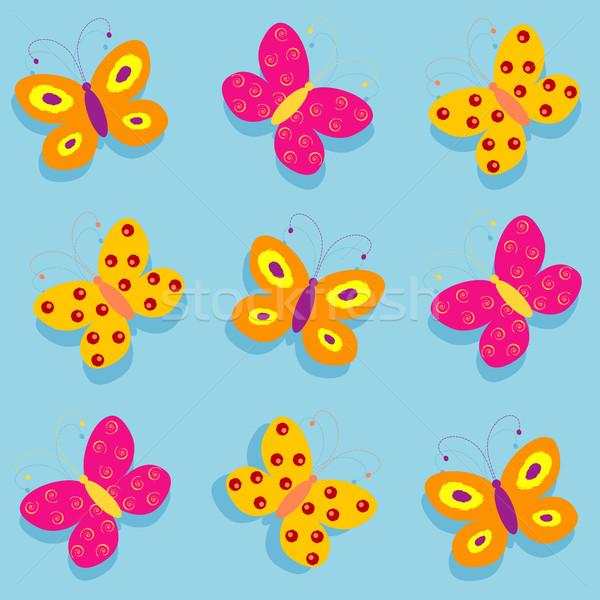 Nem leírás virágok tavasz pillangó művészet Stock fotó © kjpargeter