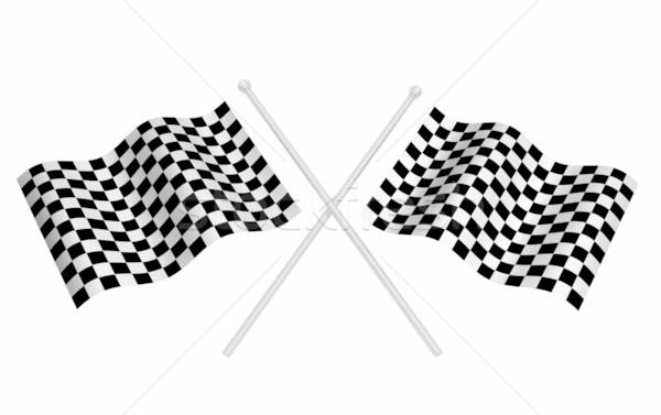 Checkered flags Stock photo © kjpargeter