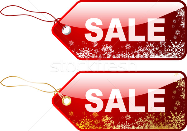 Stock photo: Christmas sale labels