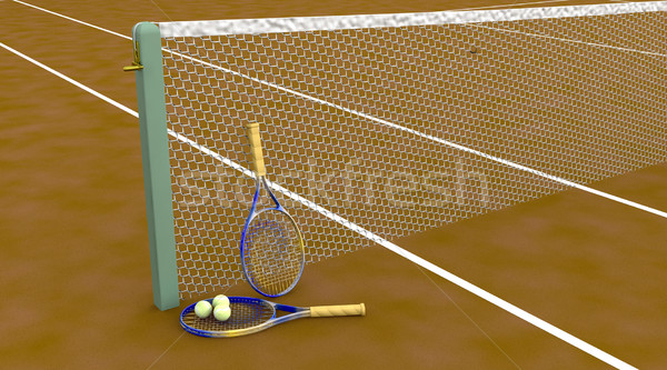 clay tennis court Stock photo © kjpargeter