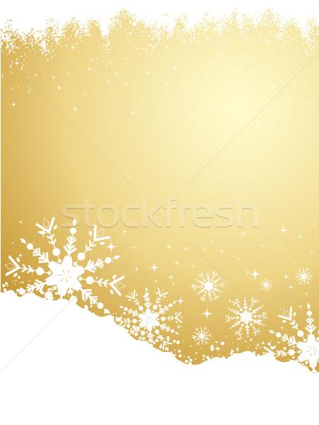 Stock fotó: Arany · hópehely · grunge · absztrakt · hó · csillag