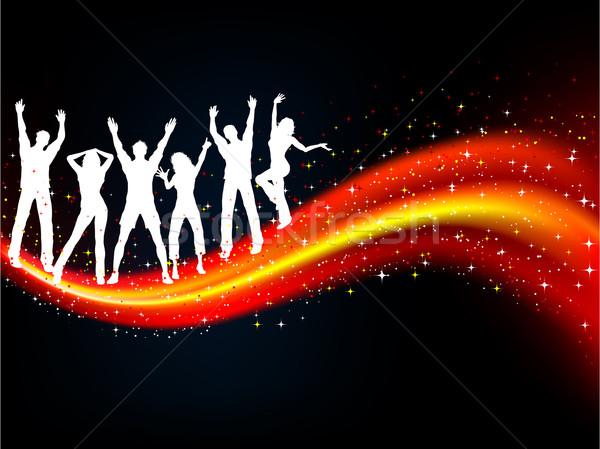Сток-фото: вечеринка · люди · танцы · аннотация · музыку