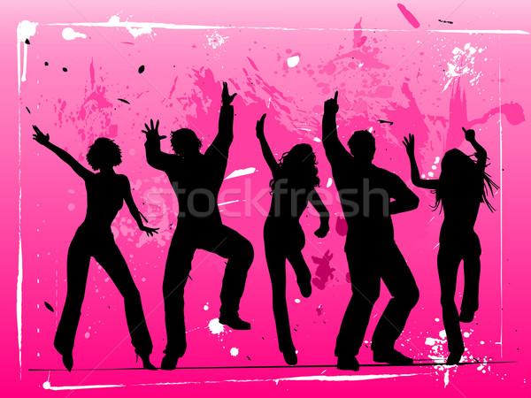 Tempo de festa menina homem mulheres dançar multidão Foto stock © kjpargeter