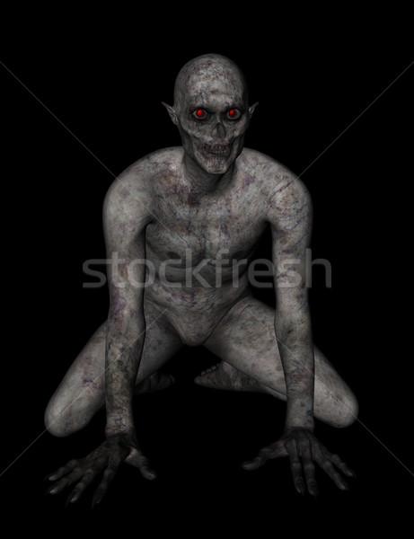 3D demoniczny rysunku 3d martwych wakacje Zdjęcia stock © kjpargeter