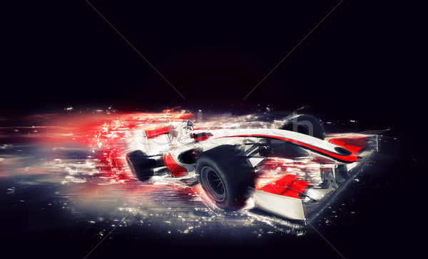 Generic F1 car with special speed effect Stock photo © kjpargeter