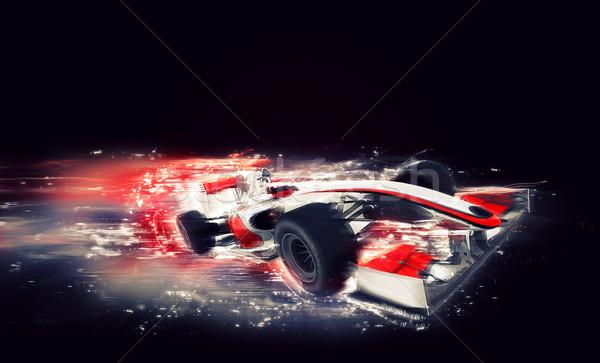 Genel f1 araba özel hızlandırmak etki Stok fotoğraf © kjpargeter