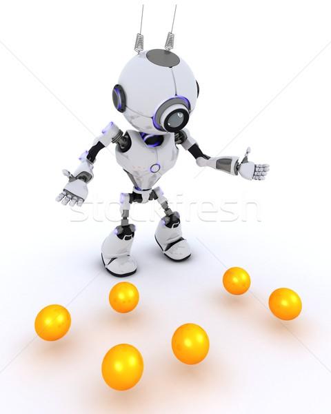 Robot juggler Stock photo © kjpargeter