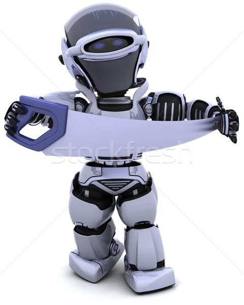 Robot zag 3d render bouw toekomst tool Stockfoto © kjpargeter