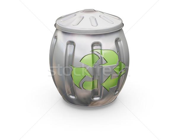 újrahasznosítás tároló 3d render tele fehér újrahasznosít Stock fotó © kjpargeter