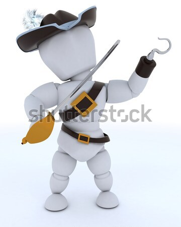 Sheriff with smoking gun Stock photo © kjpargeter