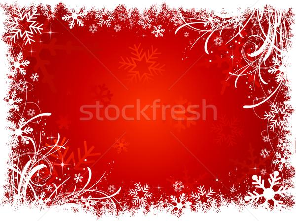 Stock fotó: Hópehely · tél · csillag · ünneplés · vektor · illusztráció