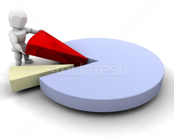 Persoon cirkeldiagram 3d render iemand vrouw man Stockfoto © kjpargeter
