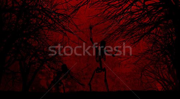 Grunge halloween estilo assustador paisagem férias Foto stock © kjpargeter