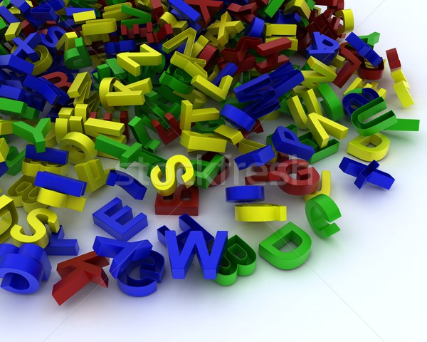 Pile of plastic letters Stock photo © kjpargeter