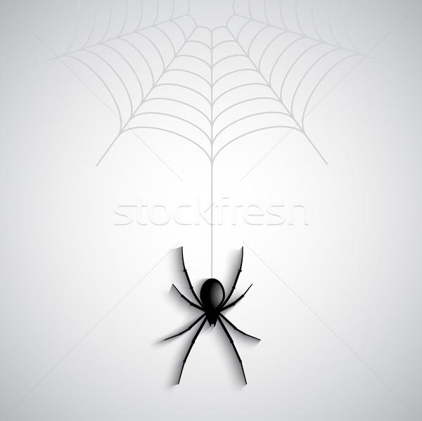 Halloween pók ünnep ijesztő folt vektor Stock fotó © kjpargeter