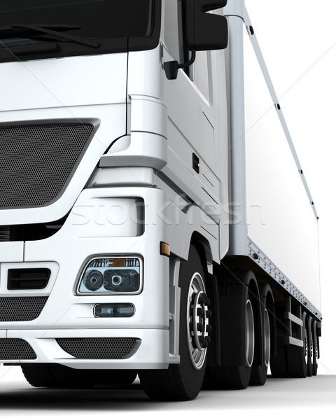 Foto stock: Carga · entrega · vehículo · 3d · camión · viaje