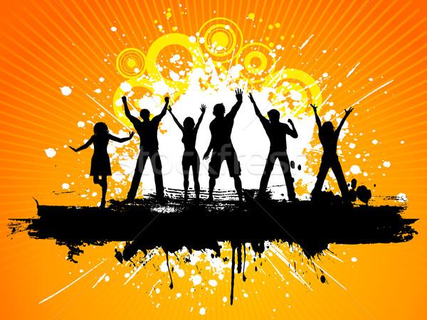 Гранж вечеринка люди танцы музыку Сток-фото © kjpargeter
