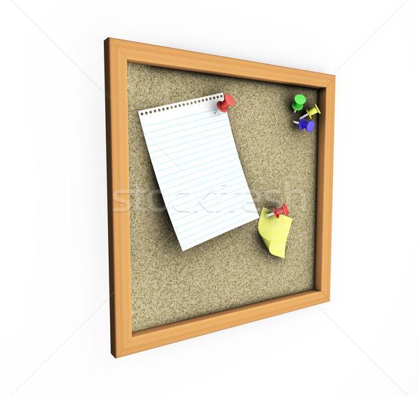 Parafa tábla 3d render jegyzet posta dugó lista Stock fotó © kjpargeter